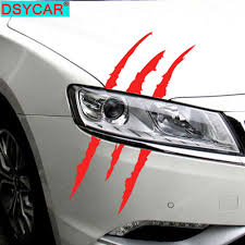 Dsycar 1pcs Claw Marks Car Sticker Decals Dinosaur Monster Raptor Scratches Jurassic Park Decal Stickers Decor Car Accessories Buy At The Price Of 1 19 In Aliexpress Com Imall Com