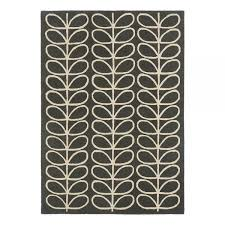 orla kiely linear stem slate rug
