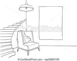 luxury bedroom interior sketchy