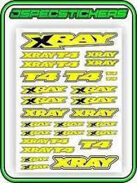 Xray Rc Car Sticker Set Vinyl Decal T4 1 10 4wd Yellow Drift A4 Tamiya Hpi R C Ebay