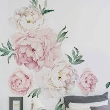 Simpleshapes Peony Flowers Wall Decal Reviews Wayfair