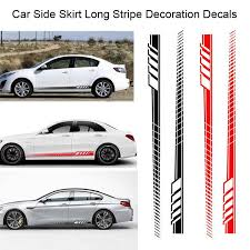 2pcs Car Auto Body Stickers Long Stripe Side Skirt Decoration Vinyl Decals Buy At A Low Prices On Joom E Commerce Platform
