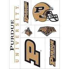 Purdue Boilermakers Decals 7ct Party City