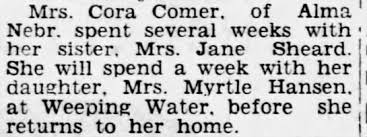 Visit with sister Sheard and daughter Myrtle Hansen - Newspapers.com