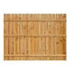 6 Ft H X 8 Ft W Cedar Dog Ear Fence Panel 5219 Oopes