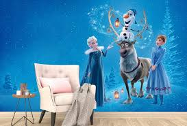 Disney Princess Frozen Elsa Snow Waterfall Wall Decals Sticker Kids Party Decor