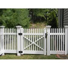 white swing wooden fence gate for
