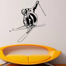 Skier Playing Skiing Sport Wall Decals Home Decor Living Room Boys Bedroom Decorative Wall Sticker Art Murals Name Wall Stickers Nursery Decals From Onlinegame 15 29 Dhgate Com