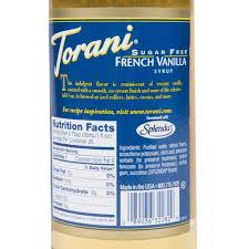 torani sugar free french vanilla