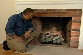 how to put in a gas log set for a