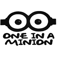 One In A Minion Decal Sticker