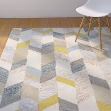 hand tufted gray gold area rug