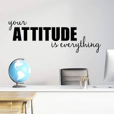 Amazon Com Your Attitude Is Everything Wall Decal Motivational Classroom Decor Quotes Teacher Gift Decal 30 X10 5 Black Handmade