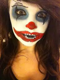 scary clown makeup for women 2020