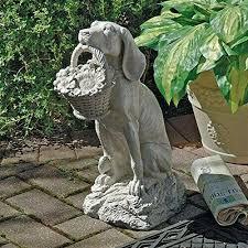 dog garden statue decor animal labrador