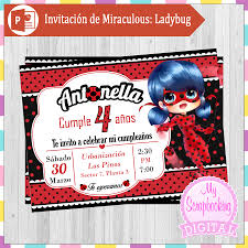 Invitacion De Miraculous Ladybug Tutorial Power Point