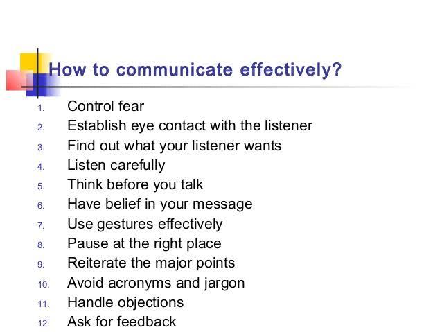 Ways of Effective Communication