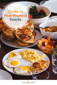 eat a post workout snack