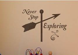 Never Stop Exploring Wall Decal Sticker Decor Removable Quote Letters Words Ebay