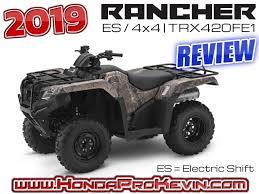 2019 honda rancher es 420 4x4 atv