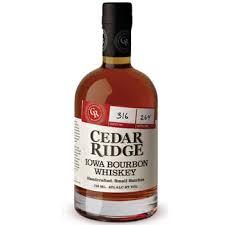 send cedar ridge iowa bourbon whiskey