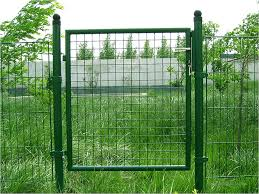 Single Swing Gate Fence And Concertina