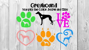 Greyhound Decal Greyhound Dog Decal Car Decal Dog Decal Etsy Dog Decals Dog Decals Car Grey Hound Dog