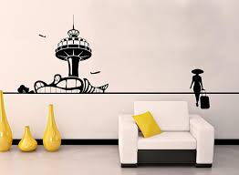 Amazon Com Control Tower Airport Planes Traveler Suitecase Premium Design Mural Wall Decal Sticker For Home Car Laptop Home Kitchen