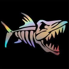 Shark Bone Sticker Car Auto Laptop Fishing Boat Truck Window Truck Vinyl Decal Ebay