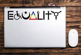 Equality Decal Car Decal Window Decal Equality Bumper Etsy In 2020 Equality Decal Vinyl Bumper Stickers Equality Bumper Sticker