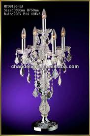 crystal chandelier table lamp for
