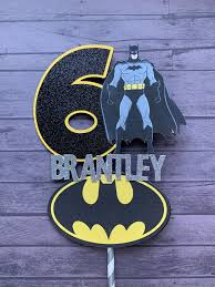 Batman Centerpiece Stick Superhero Birthday Decor Con Imagenes