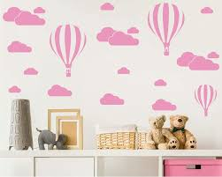 Amazon Com Giant Removable Vinyl 3d Hot Air Balloons With Clouds Wall Decals Diy Wall Stickers Nursery Decor Kids Bedroom Art Decoration Girls Rooms Decal Child Sticker Home Walls Decal White D952 Light