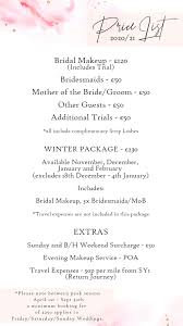 makeup list for wedding saubhaya makeup