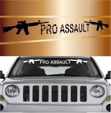 Pro Assault Gun Cool Windshield Decal Banner Topchoicedecals