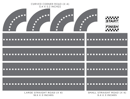 Race Car Tracks Fabric Wall Decal Customizable Roads Full Size Add On Set Wall Decals By Sunny Decals