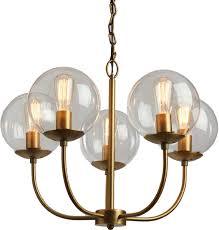 glass globe 5 light alessa chandelier