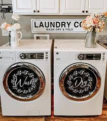 Amazon Com Wash Dry Vinyl Decal Set For Front Load Machines With Floral Wreaths 13 25 Round Handmade