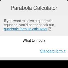 parabola calculator