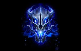 wallpaper skull black background