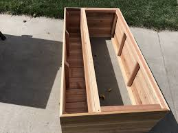 tiered garden planter box