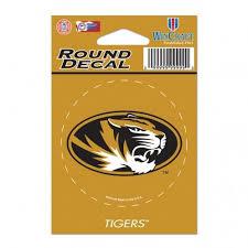 Missouri Tigers Round Vinyl Decal 3 X 3 Mo Sports Authentics Apparel Gifts