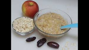 baby food recipe oats apple porridge