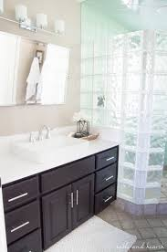 a shiny new master bathroom mirror