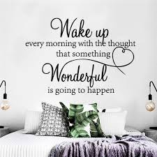Wake Up Every Morning Dream Quote Pvc Wall Art Stickers Sayings Removable Decals Home 40x29cm Diy Wall Stickers Home Decor Wall Stickers Aliexpress
