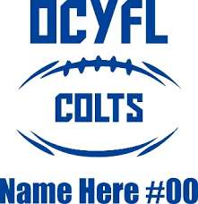 Ocyfl Colts Car Decal Includes Player Name And Number