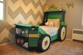 Tractor Bed Plans Pdf Format Twin Size For A Kid Bedroom Etsy Toddler Bedrooms Kid Beds Toddler Bed