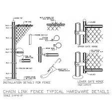 Chain Link Fence Installation Fittings Cad Drawing Cadblocksfree Cad Blocks Free