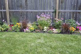 flower garden along fence fence