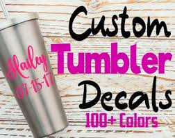 Tumbler Decal Etsy